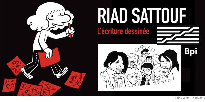 Expo gratuite Paris, Riad Sattouf l'ecriture dessinée, BPI Centre Pompidou